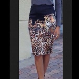 Tiger Pencil Skirt 🐅 NWOT
